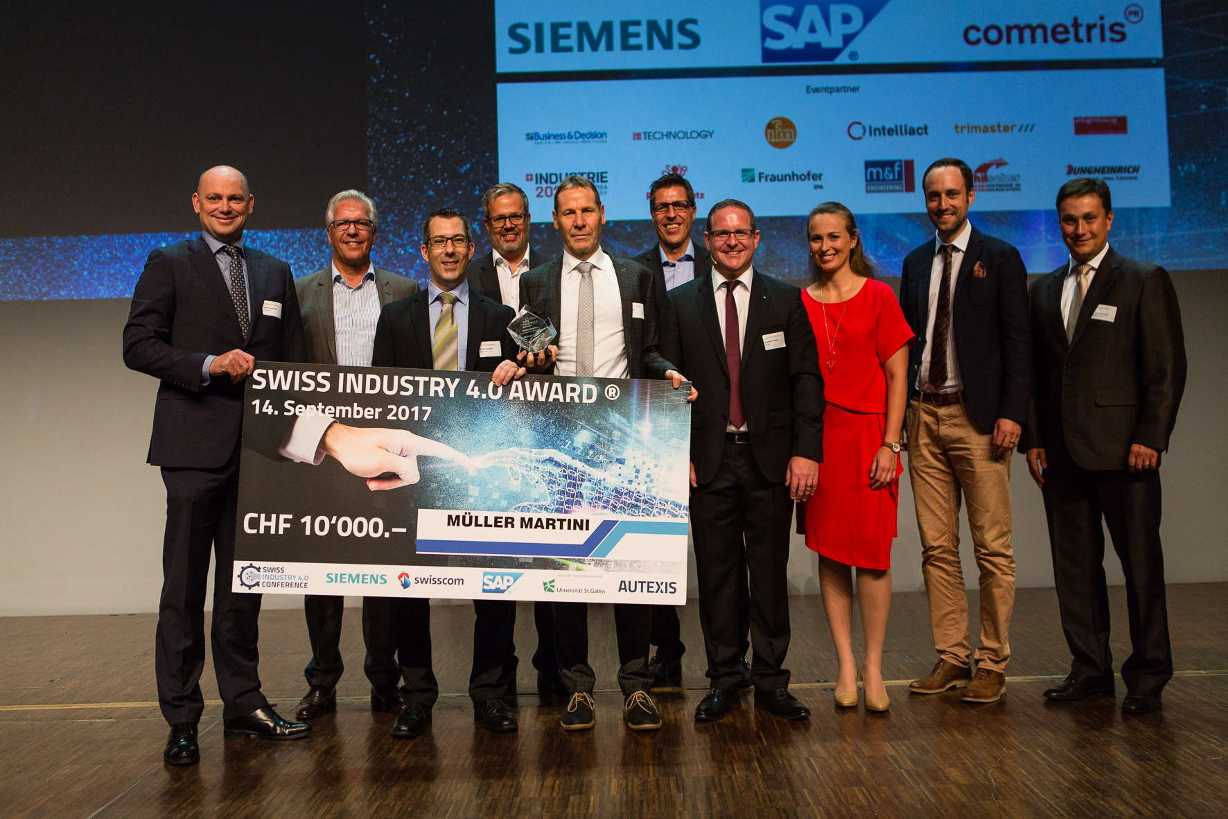 Swiss Industry 4.0 Conference Müller Martini gewinnt Swiss Industry 4.0 Award